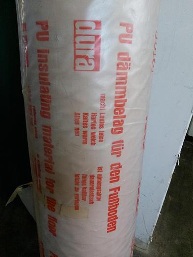 50m² PU Dämmbelag für Fußboden, 5mm, 2m breit,  Dura,  neu -90%