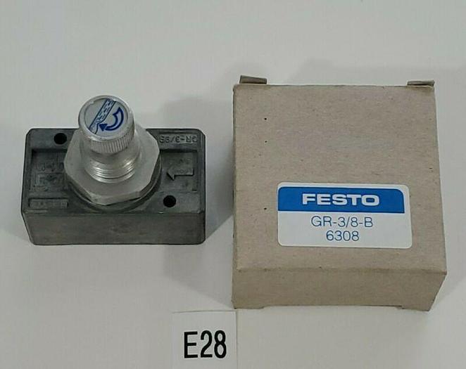 *NEW IN BOX* Festo GR-3/8-B 6308 Throttle Choke Check Valve + Warranty!