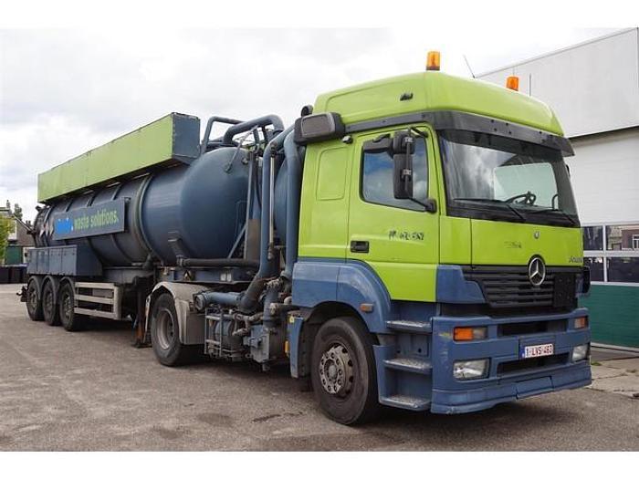 Used Mercedes with Renders Vacuum Tank Combi 28.100 Ltr /  ADR /  Ipsam Tank RVS / Tipper