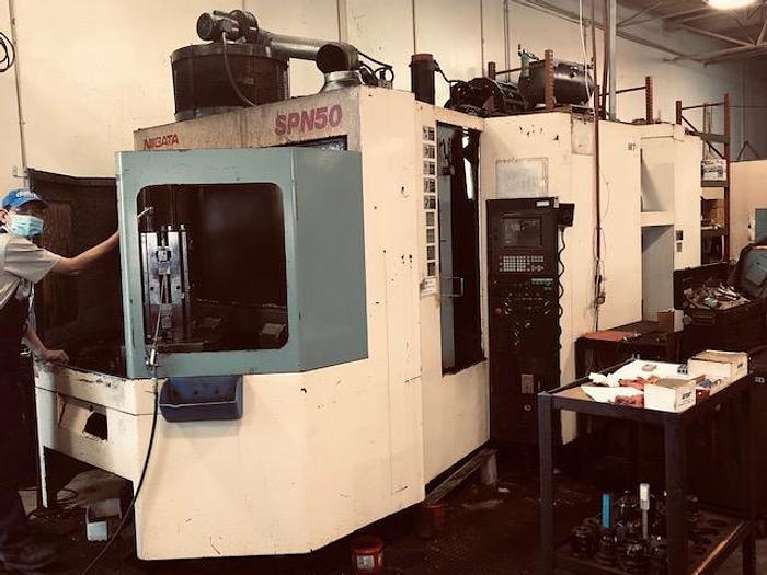 Used 1999 Niigata  SPN-50 CNC Horizontal Machining Center with Fanuc Control
