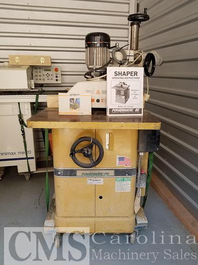 Used Powermatic Model 27 Shaper with Steff Feed
