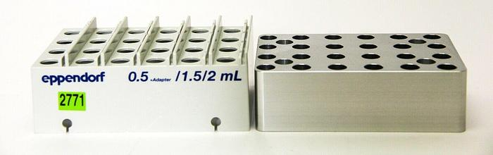 Used Eppendorf Thermorack For 24 SafeLock Heat Block 0.5 +Adapter 1.5/2.0 mL (2771)