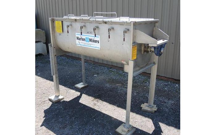 USED MARION PADDLE BLENDER, 25 CUBIC FEET, STAINLESS STEEL