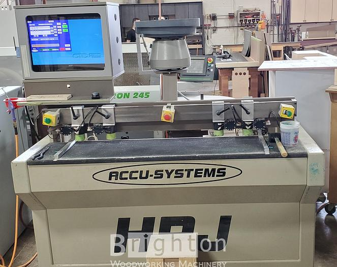 2006 Accu-Systems HPJ CNC Bore, Glue and Dowel machines