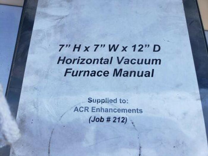 "THE FURNACE SOURCE 7"" X 7"" X 12"" ID HORIZONTAL VACUUM FURNACE IN XL"