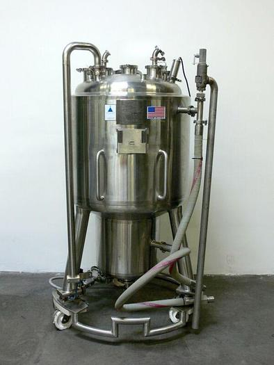 Used Precision 350 Liter Stainless Steel Jacketed Reactor w/ Load Cells, Rated 45 PSI