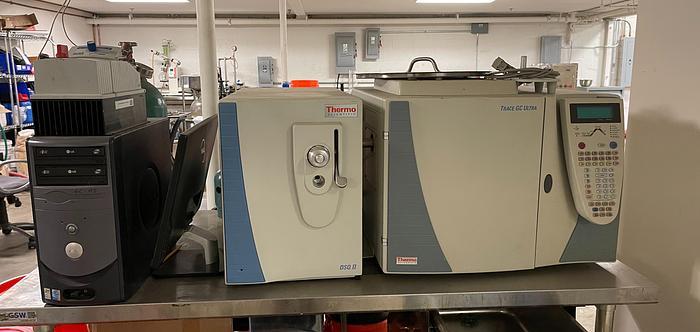 Used Thermo Scientific Trace GC Ultra w/ Thermo Trace DSQ Mass Spectrometer