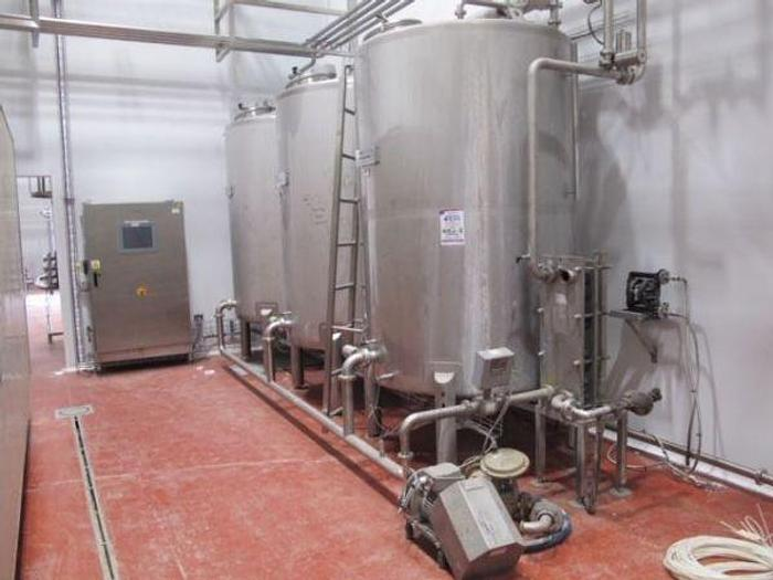 Used 2011 3 Tank CIP Set with Siemans Controls
