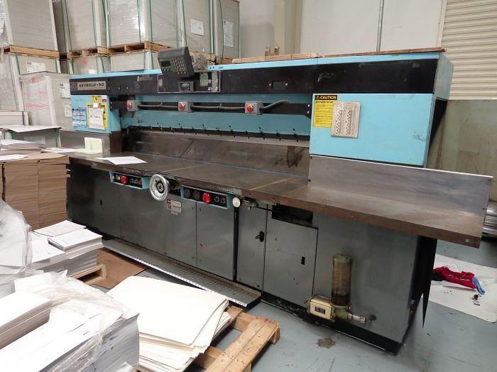 """Used 90"""" (2.28M) SEYBOLD GUILLOTINE PAPER CUTTER WITH MICROCUT SYSTEM"""
