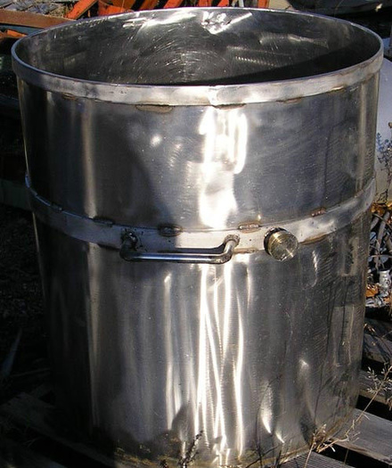 100 Gallon Stainless Steel Mix Can