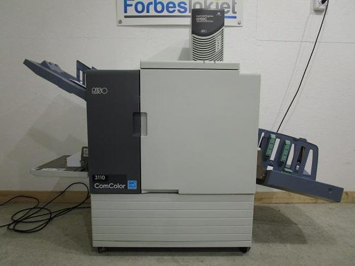 Used Riso ComColor 3110 X1 Full Color Inkjet Printer with IS950C RIP Controller and Auto Stacking Tray
