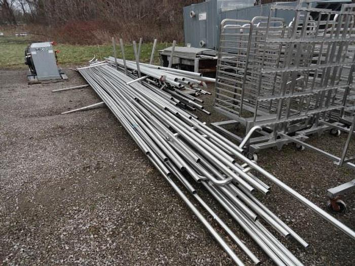 """Used Stainless Steel Sanitary Pipes; 2""""OD"""