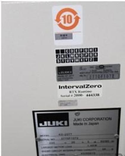 Used JUKI   KD-2077 High speed inline glue dispenser SMA surface mount adhesive dispens