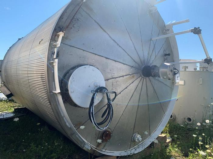 Used USED 9246 GALLON JACKETED TANK, CARBON STEEL, ULC LISTED, INSULATED, VERTICAL