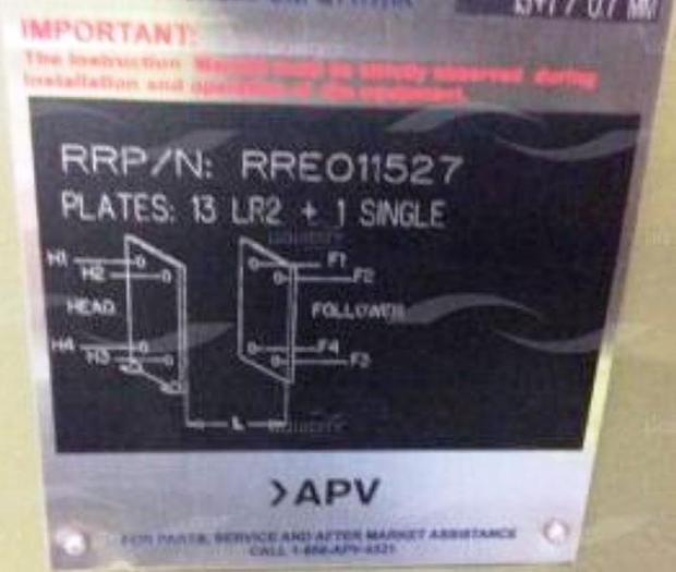 2012 SPX-APV Paraflow Plate Heat Exchanger VO17- M-10