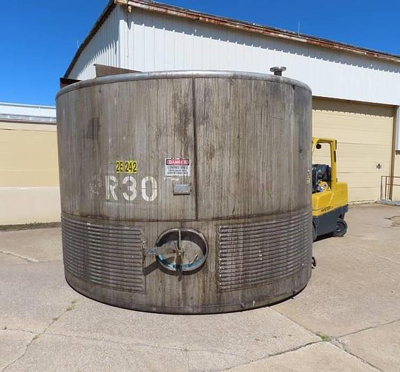 Used 6,500 GALLON IMPERIAL STEEL TANK CO. VERTICAL TANK - S/S - JACKETED