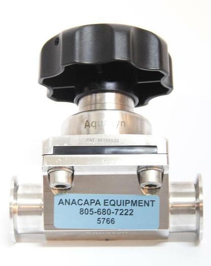 "Used Aquasyn 023BFJ-C 1.5""BWF Stainless Steel 316LSS Diaphragm Two-Way Valve (5766) g"