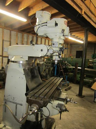 "9"" x 42"" First LC 1 1/2 VS Vertical Turret Milling Machine 5593"