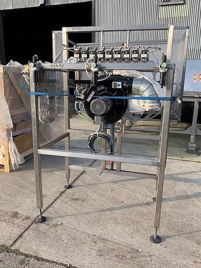 Epak 18 Station Stainless Steel Inline Bottle Air Rinser / Cleaner