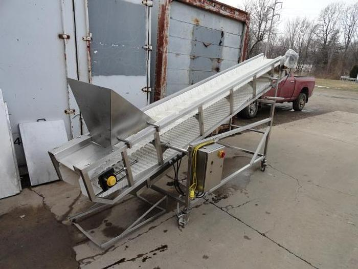 """Used Weigh Pack Incline Infeed Conveyor; 12""""Wx12'L"""