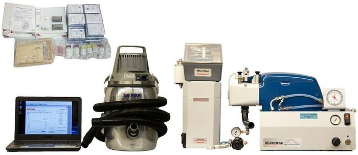 Used Microtrac S3500 Wet Particle Size Analyzer + Turbotrac Dry Feeder & SDC (7268)R