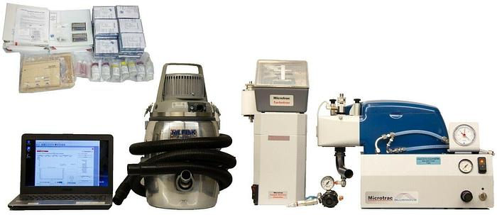 Used Microtrac S3500 Wet Particle Size Analyzer, Turbotrac Dry Feeder, SDC Win10 7268