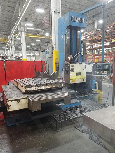 "1991 DEFUM  DBM-100N CNC TABLE TYPE HORIZONTAL BORING MILL, 4 "" SPINDLE"