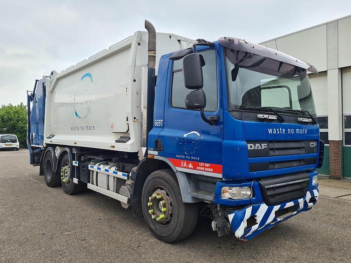 Used 2009 DAF FAG CF75 Garbage Truck 6x2