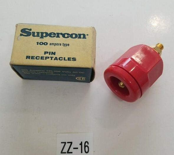 *NEW* Supercon RP100GR Red Supercon Plug 100 Ampere 125-250V 600V + WARRANTY!