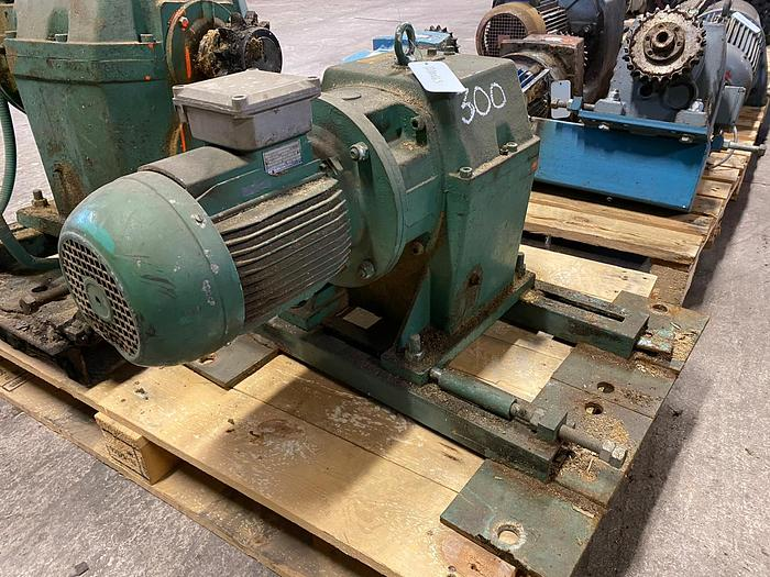 Used AEG Electric motor with reducer 2,2 kW