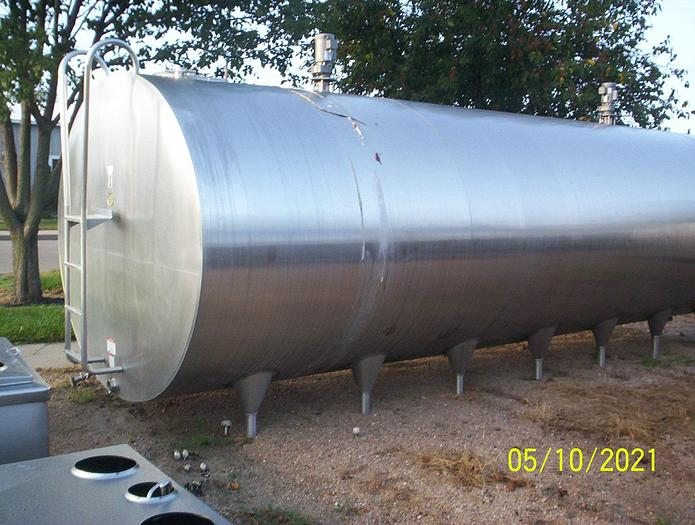 Used DariKool 7000 Gallon Milk Cooling Tank