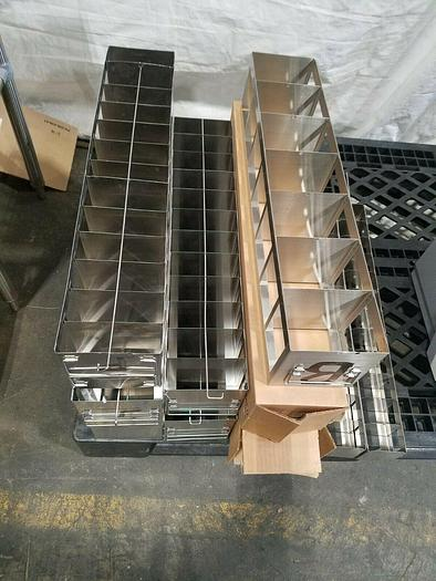 Used Cell Bank Stainless Steel Stack Trays Racks Pharmaceutical One Price for ALL