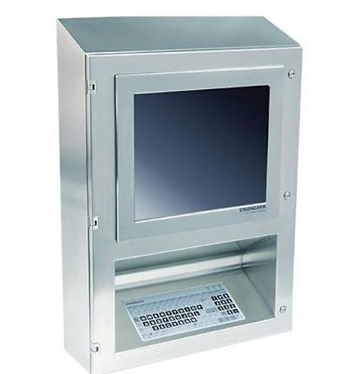 Used Strongarm Clean Room Computer Work Station with Keyboard & Flat Screen Stainless