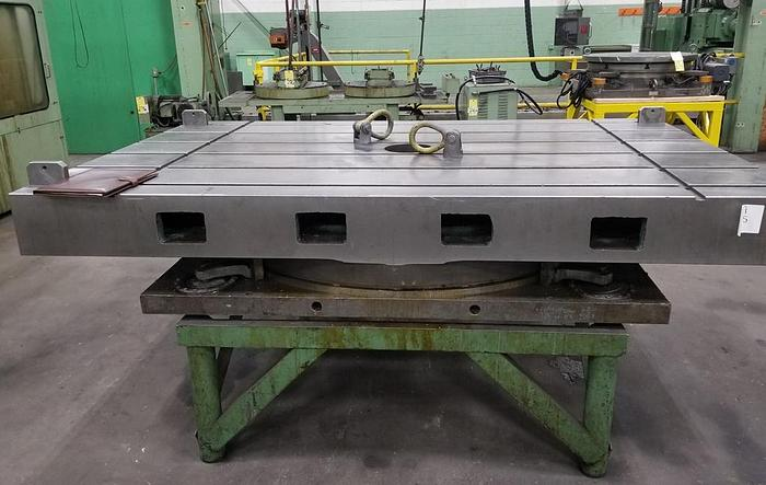 """Giddings & Lewis Air Lift Rotary Table, 60"""" x 96"""", ID17555"""
