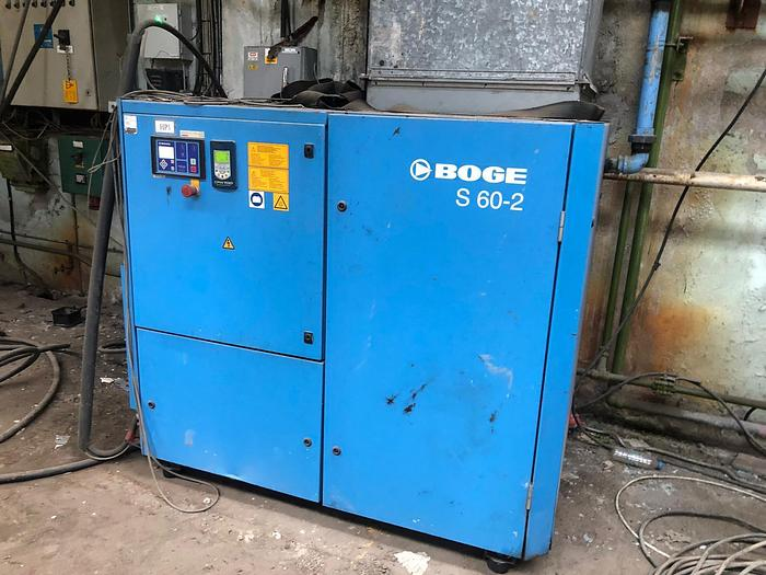 Used 2011 BOGE S60-2 Variable Speed Rotary Screw Compressor