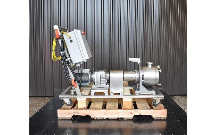 USED SINE POSITIVE DISPLACEMENT PUMP, MODEL MR130, STAINLESS STEEL, SANITARY
