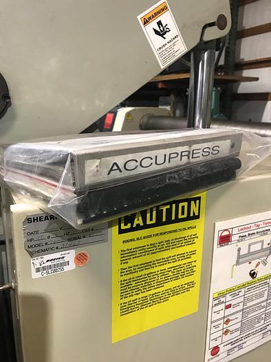 2000 Accurpress 7606 Hyd/Mech CNC PressBrake 6180