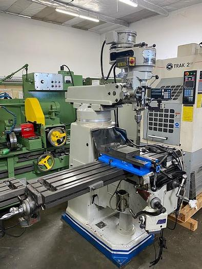 """Used Acra Mill 10"""" x 54"""" Milling Machine Sony LH30 Digital Readout  X and Knee Power Feeds"""