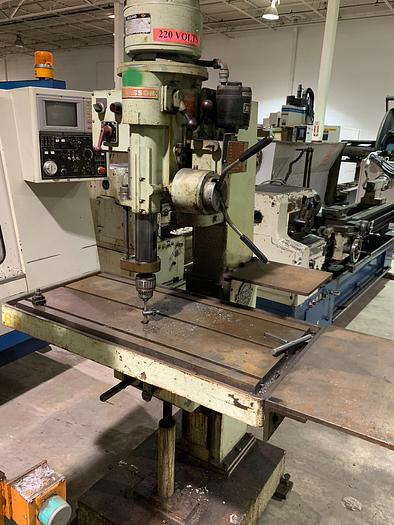Used JOHANSSON FLOOR STANDING JACK KNIFE GEARED HEAD POWER FEED SINGLE SPINDLE DRILL