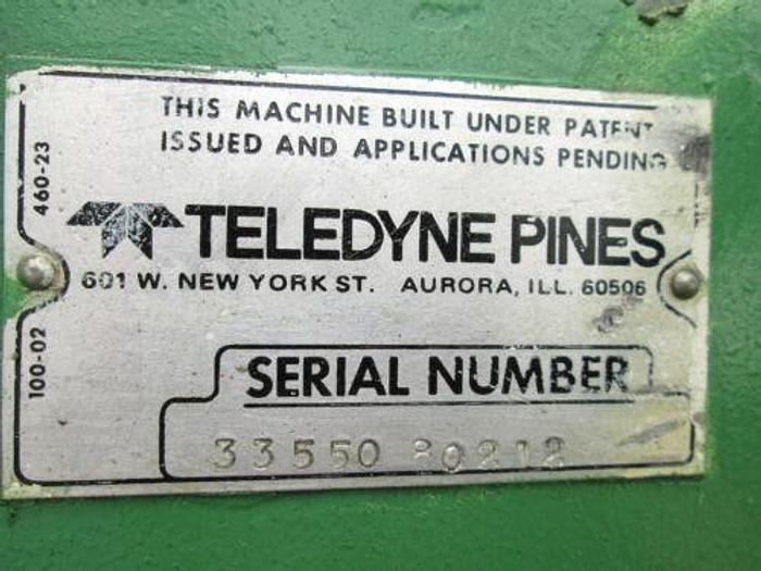 PINES MODEL DYNACUT #15 TUBE CUTOFF MACHINE W/ 20 FOOT FEEDER