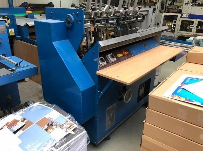 Used Hunkeler VEA 400 end sheet tipping machine (Unkn.)