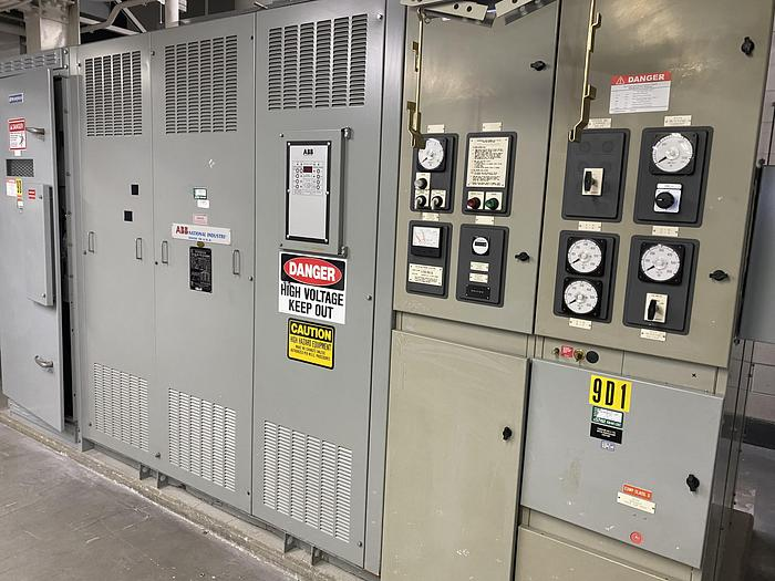 Used ABB DRY TYPE TRANSFORMER 500/667 KVA W/ BREAKERS AND DISCONNECT SWITCH