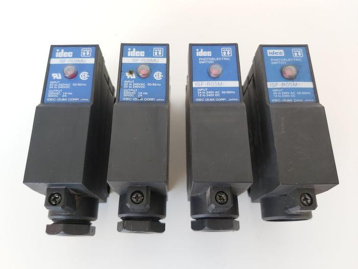 Gebraucht 4 Stück Foto elektrischer Sensor, 2x ISF-R05MU, 2x ISF-R05M, Idec gebraucht
