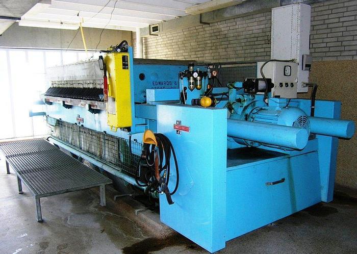 Used EDWARD & JONES chamber filter press.