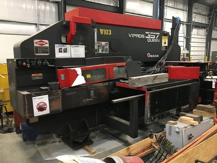 Used 1998 33 Ton Amada Vipros 357 Queen CNC Turret Punch