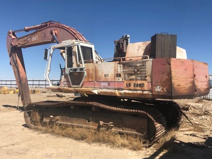 HB18237 Link Belt excavator LS5800 C Series II set up for magnet