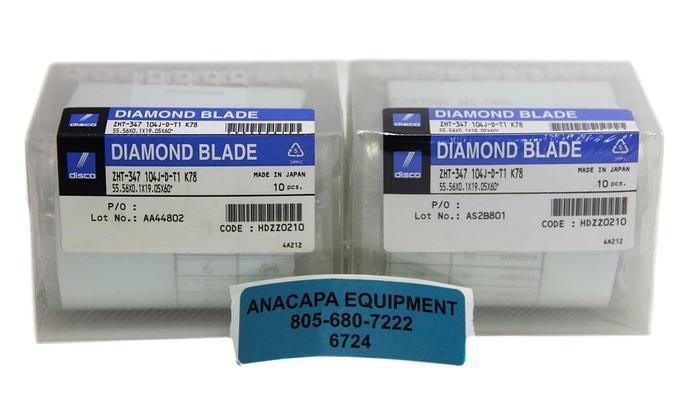 Disco Diamond Blade ZHT-347 104J-D-T1 K78 55.56X0.19.05X60 Lot of 20 NEW(6724)W