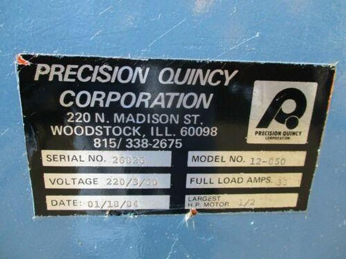 """PRECISION QUINCY MODEL 12-850 ELECTRIC OVEN 850 DEGREE 20"""" X 20"""" X 24"""" ID DIMS"""