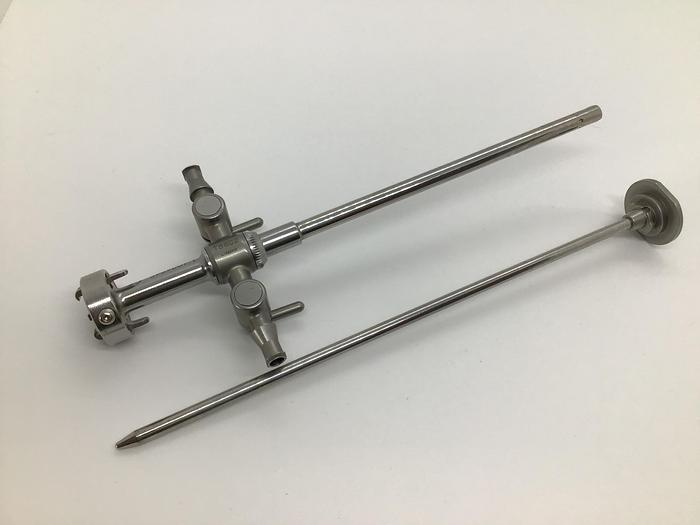 Used Trocar and Obturator Rotatable Quick-Connect 5.8mm 30/70 Degree with 2 Taps CONMED LINVATEC