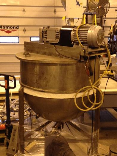 Used 150 GALLON SINGLE MOTION KETTLE – S/S – JACKETED – #8034